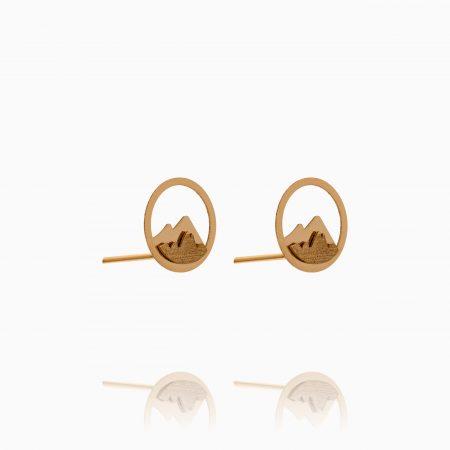گوشواره طلا 18 عیار زنانه مدل دماوند کد ER0288