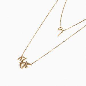 گردنبند طلا 18 عیار زنانه اسپورت با نگین اتمی مدل پرستو کد NL0203