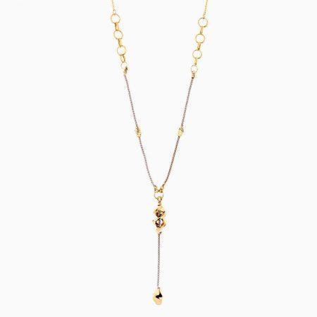 گردنبند طلا 18 عیار زنانه مدل حلقه ای با آویز پیچی کد NL0215