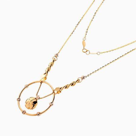 گردنبند طلا 18 عیار زنانه مدل کارتیر با آویز کد NL0216
