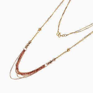 گردنبند طلا 18 عیار زنانه مدل ریسه زنجیری کد NL0223