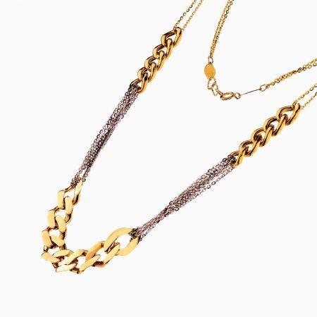 گردنبند طلا 18 عیار زنانه مدل کارتیر کد NL0225