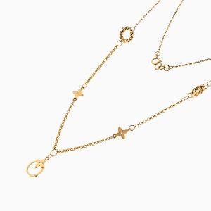 گردنبند طلا 18 عیار زنانه مدل لویی ویتون کد NL0233