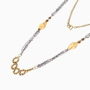 گردنبند طلا 18 عیار زنانه مدل آلبرنادو کد NL0239