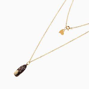 گردنبند طلا 18 عیار زنانه زنجیری مدل اسلیمی کد NL0242