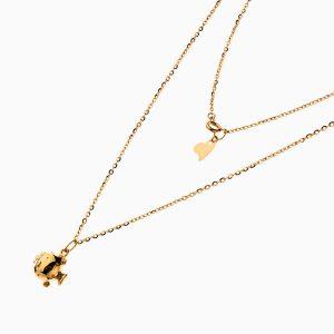 گردنبند طلا 18 عیار زنانه فانتزی مدل ماهی کد NL0248