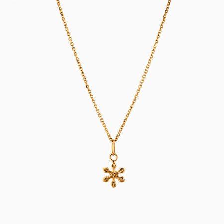 گردنبند طلا 18 عیار زنانه اسپورت مدل ستاره کد NL0254