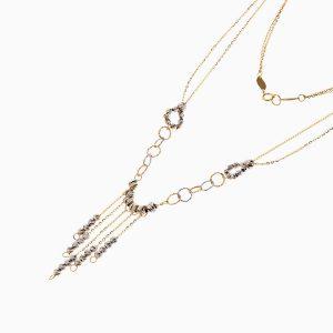 گردنبند طلا 18 عیار زنانه زنجیری مدل آلبرنادو کد NL0258