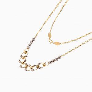 گردنبند طلا 18 عیار زنانه زنجیری مدل آلبرنادو کد NL0260