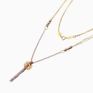 گردنبند طلا 18 عیار زنانه زنجیری مدل آویز اسلیمی کد NL0277