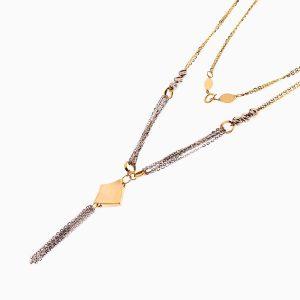 گردنبند طلا 18 عیار زنانه زنجیری مدل آویز طرح دار کد NL0282