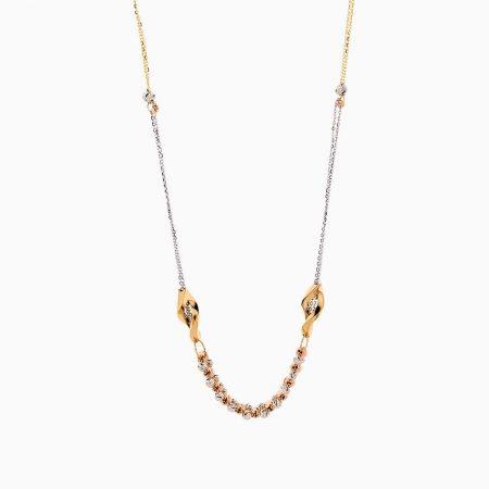 گردنبند طلا 18 عیار زنانه زنجیری مدل آلبرنادو کد NL0284