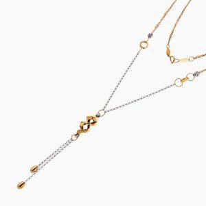 گردنبند طلا 18 عیار زنانه زنجیری مدل آویز طرح دار کد NL0289
