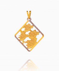 مدال طلا 18 عیار زنانه مدل چهار قل کد PD0073