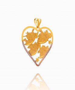 مدال طلا 18 عیار زنانه مدل چهار قل کد PD0075