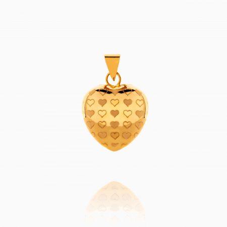 مدال طلا 18 عیار زنانه ون یکاد قلب ولنتاین کد PD0079
