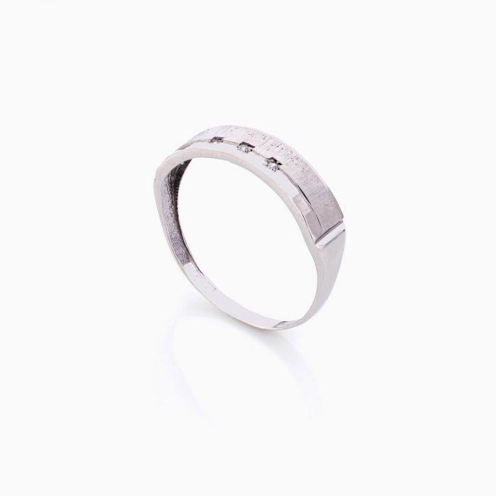 حلقه ست طلا 18 عیار با نگین اتمی مدل رینگ نگین دار کد RG0410
