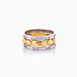 انگشتر طلا 18 عیار زنانه فانتزی با نگین اتمی مدل ستاره کد RG0430