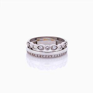 انگشتر طلا 18 عیار زنانه فانتزی مدل ستاره کد RG0433