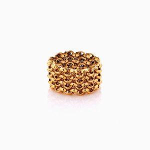 انگشتر طلا 18 عیار زنانه مدل رینگ طرح دار کد RG0453