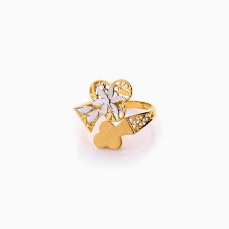 انگشتر طلا 18 عیار زنانه فانتزی مدل پروانه کد RG0467