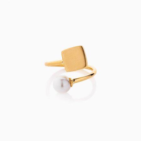 انگشتر طلا 18 عیار زنانه نگین دار با سنگ اتمی طرح شبدر کد RG0472