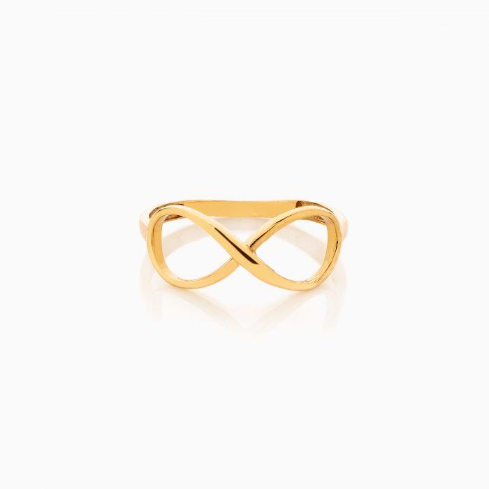انگشتر طلا 18 عیار زنانه فانتزی طرح بینهایت کد RG0473