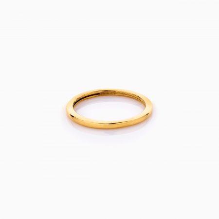 انگشتر طلا 18 عیار زنانه فانتزی رینگی ساده کد RG0476