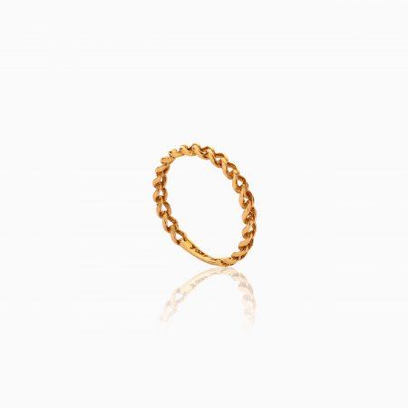 انگشتر طلا 18 عیار زنانه طرح کارتیر کد RG0477