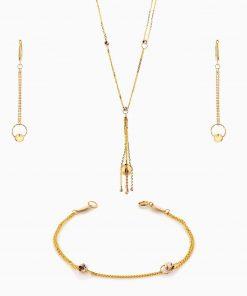 سرویس طلا 18 عیار زنانه اسپورت مدل گوی و زنجیر کد ST0128
