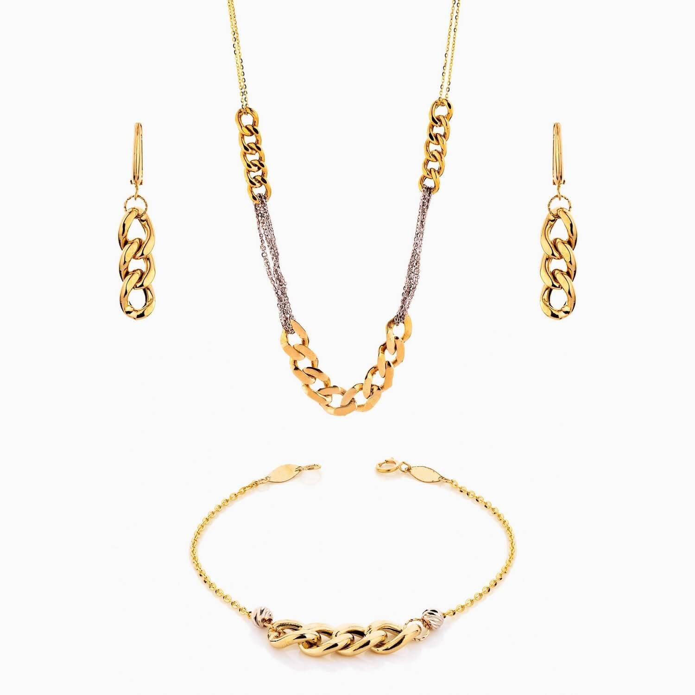 سرویس طلا 18 عیار زنانه زنجیری مدل کارتیر کد ST0135
