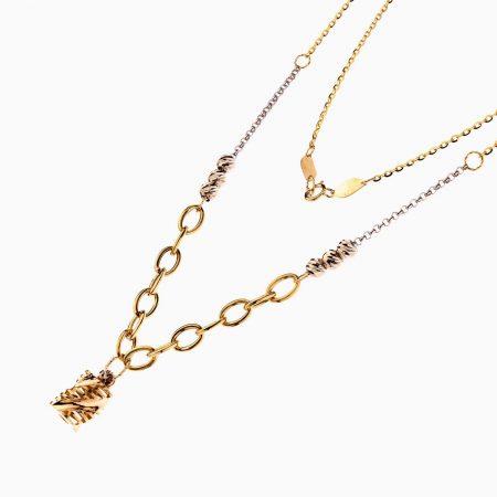سرویس طلا 18 عیار زنانه اسپورت مدل زنجیر با آویز پیچی کد ST0138
