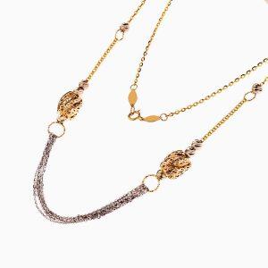 سرویس طلا 18 عیار زنانه اسپورت مدل زنجیر و گوی کد ST0139