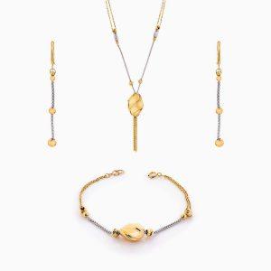 سرویس طلا 18 عیار زنانه اسپورت مدل گوی و زنجیر کد ST0142