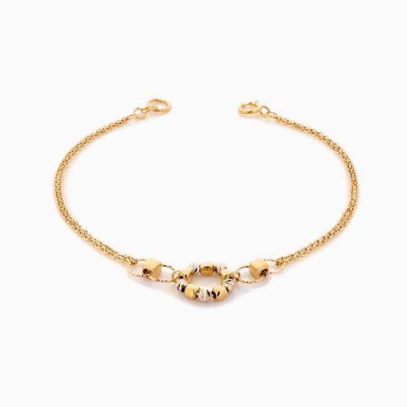 سرویس طلا 18 عیار زنانه اسپورت مدل گوی و زنجیر کد ST0145