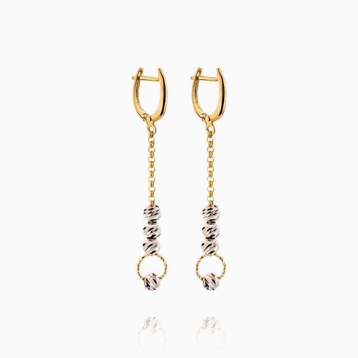 سرویس طلا 18 عیار زنانه زنجیری مدل آلبرنادو کد ST0148