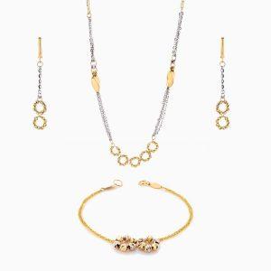 سرویس طلا 18 عیار زنانه زنجیری مدل آلبرنادو کد ST0149