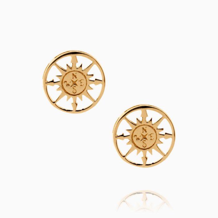 نیم ست طلا 18 عیار زنانه فانتزی مدل قطب نما کد ST0160