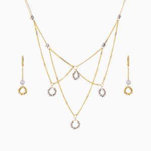 سرویس طلا 18 عیار زنانه زنجیری مدل آلبرنادو کد ST0172