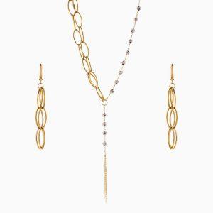 سرویس طلا 18 عیار زنانه اسپورت مدل آلبرنادو کد ST0176