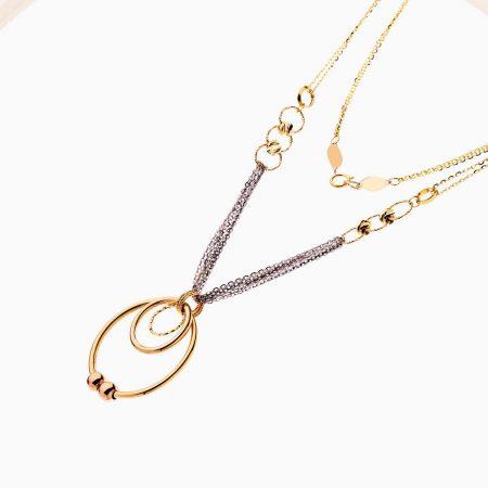 سرویس طلا 18 عیار زنانه زنجیری مدل گوی و زنجیر و حلقه کد ST0190