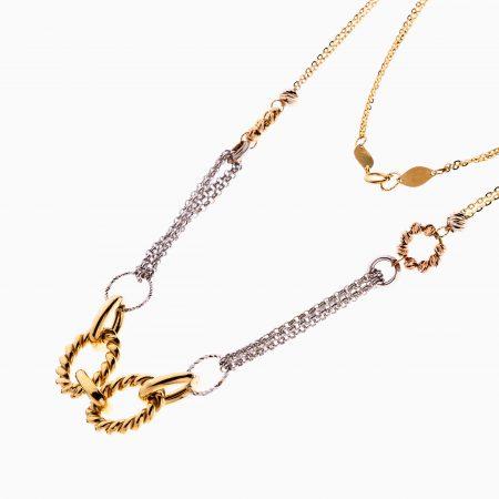 گردنبند طلا 18 عیار زنانه زنجیری مدل یورمن کد NL0293