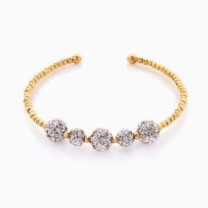 دستبند طلا 18 عیار زنانه النگویی مدل آلبرنادو کد BL0428