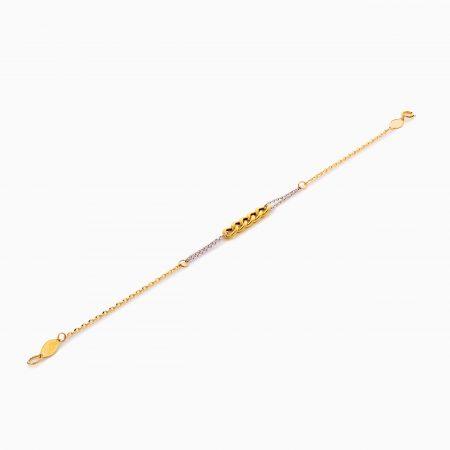 دستبند طلا 18 عیار زنانه زنجیری مدل کارتیر کد BL0430