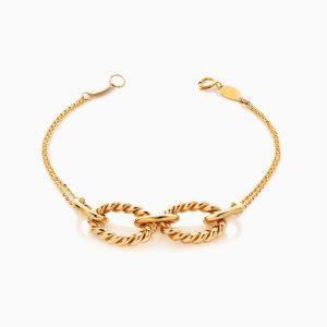 دستبند طلا 18 عیار زنانه زنجیری طرح یورمن کد BL0432