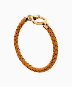 دستبند طلا 18 عیار زنانه چرمی مدل فرد کد BL0443