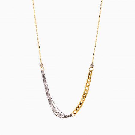 گردنبند طلا 18 عیار زنانه زنجیری مدل کارتیر کد NL0302
