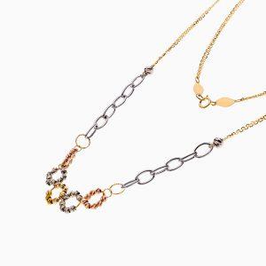 گردنبند طلا 18 عیار زنانه زنجیری مدل آلبرنادو کد NL0304