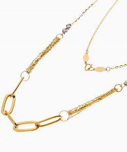 گردنبند طلا 18 عیار زنانه اسپورت مدل حلقه و زنجیر کد NL0306