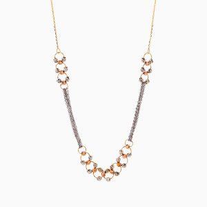 گردنبند طلا 18 عیار زنانه زنجیری مدل آلبرنادو کد NL0307